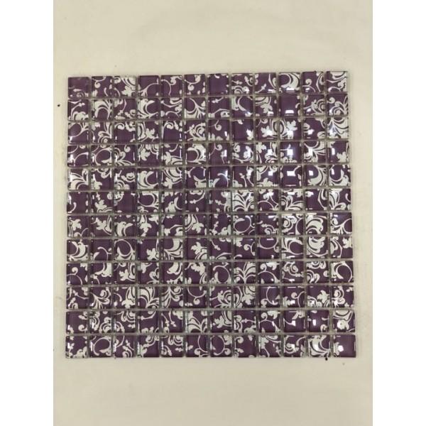 Mosaico su rete Arabesque Viola - 30x30 Cm