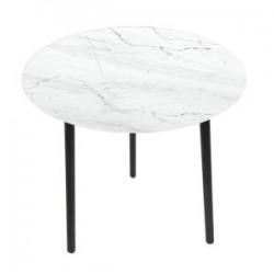 Tavolino basso circolare bianco 40x40