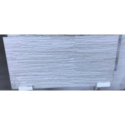 Mattonella Effetto Pietra Scaglia Bianco 30x60 Cm