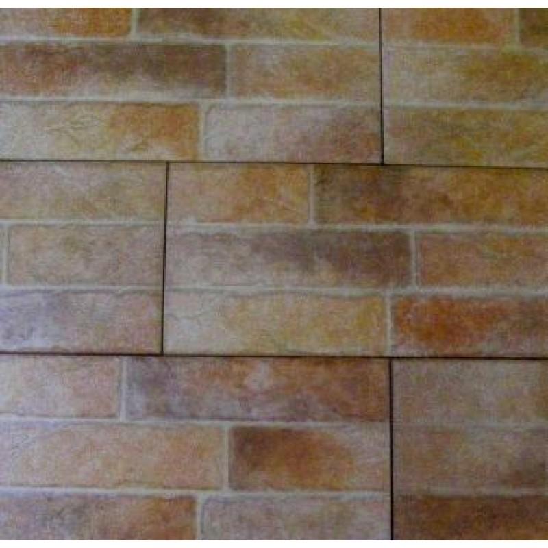 Mattonella muro ocra 18x63 cm - Rivestimento muro esterno ...