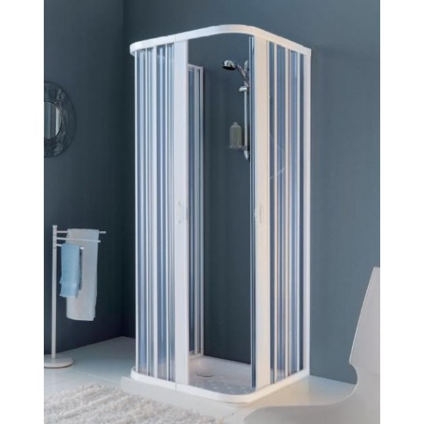 Box doccia a soffietto 3 lati riducibile