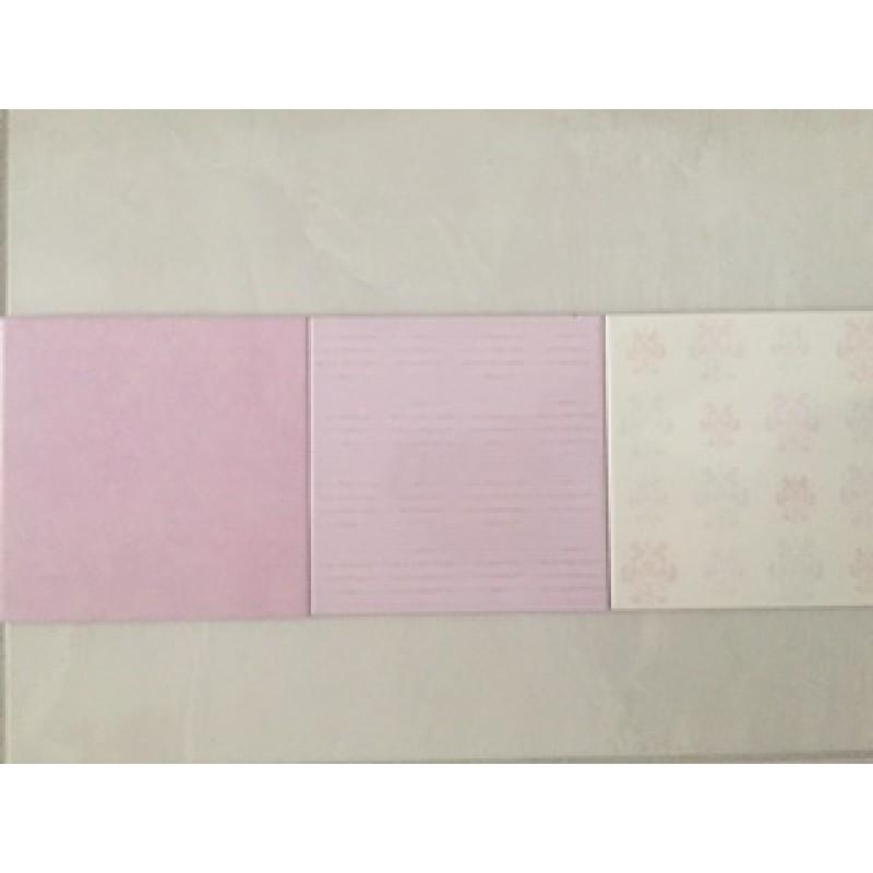 Mattonella rosa lilla 20x20 - Bagno lilla e bianco ...
