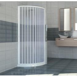 Box doccia a soffietto semicircolare 80x80 - PVC rinforzato