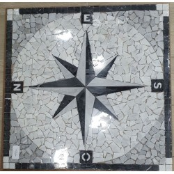 Rosone decorativo 60x60 Wind Rose Nero