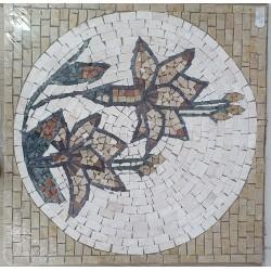 Rosone decorativo 60x60 Fiori Gialli