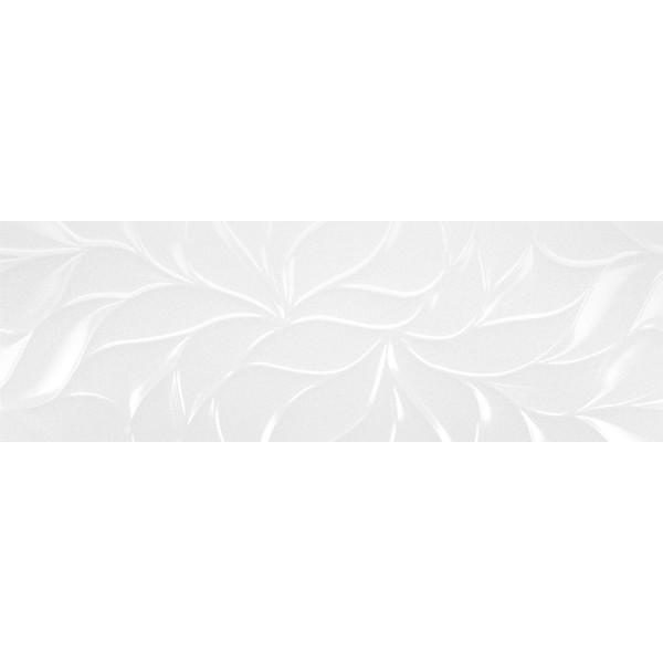 Mattonella Leaves Bianco Brillo 30x90 Cm