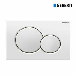 Cassetta scarico GEBERIT + Placca doppio tasto bianco