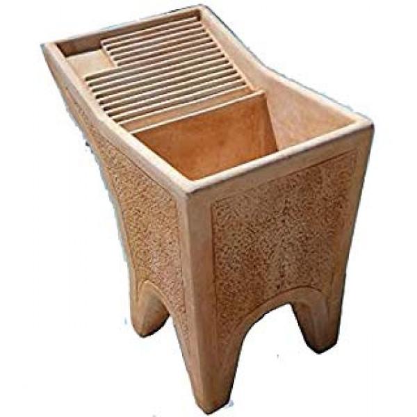 Lavatoio in cemento 72 x 75 x 80 cm for Vasche in plastica da giardino