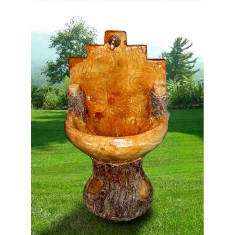 Fontana da giardino finto legno - Fontane a parete da giardino ...