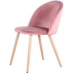 Sedia - Poltrona in velluto morbido rosa