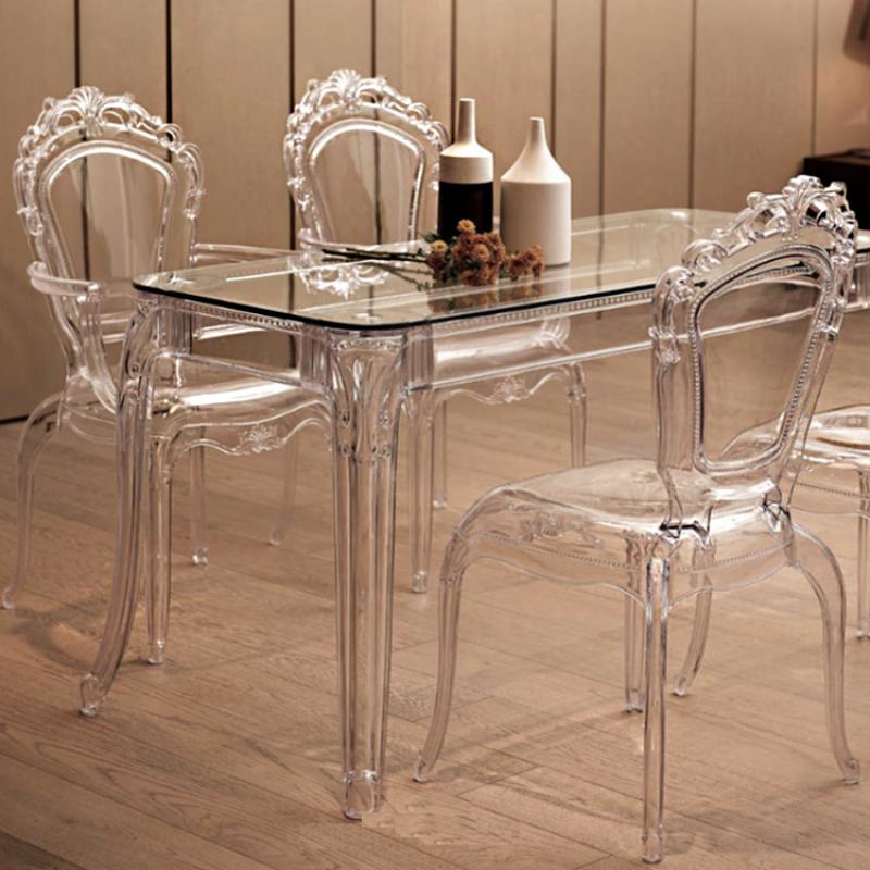 Sedia In Polipropilene Stile Barocca
