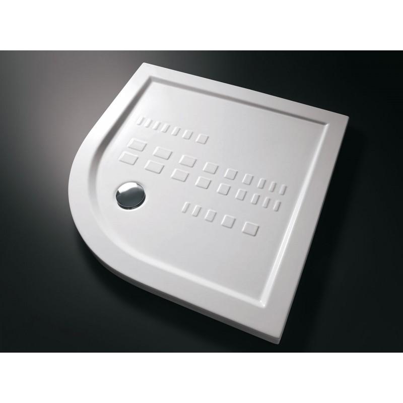 0528fdb0a488a4 Piatto doccia semicircolare in ceramica H.10 - 80x80 Cm