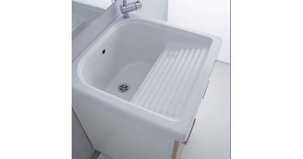 Lavatoio in ceramica con strizzatoio esterno 50 x 60 cm - Siliconare box doccia interno o esterno ...