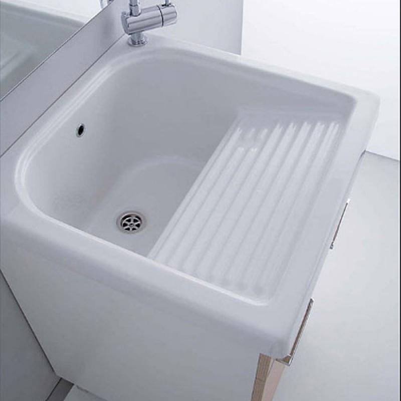 Lavatoio in ceramica con strizzatoio esterno 50 x 60 cm - Pilozzo esterno ...