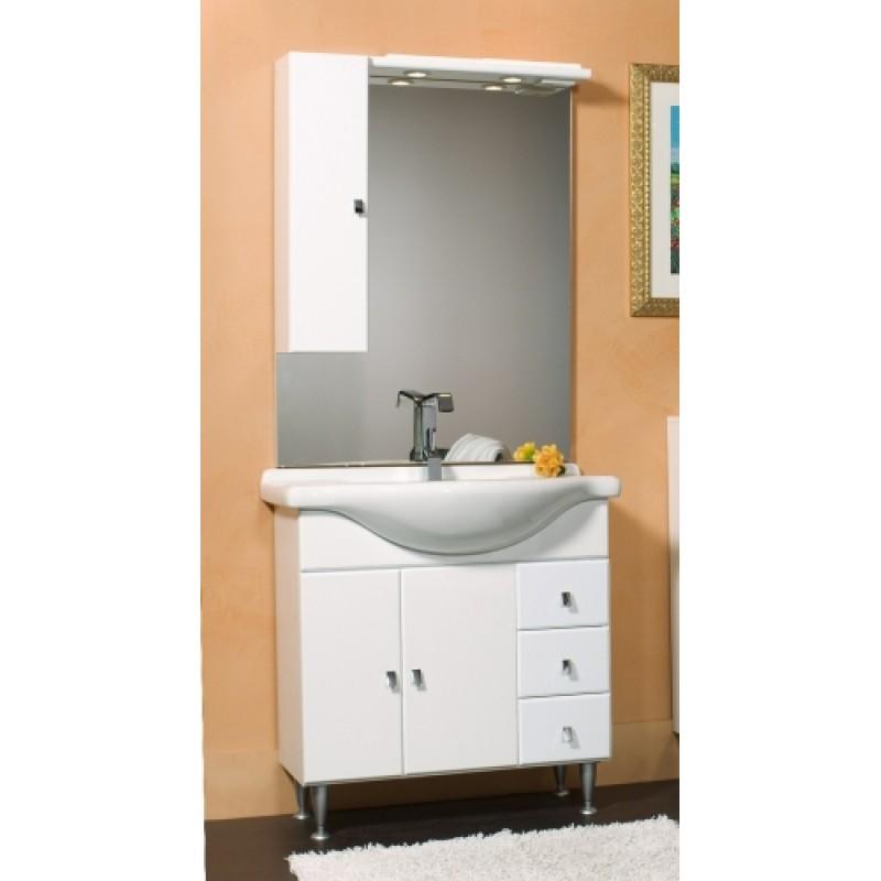 Mobile da bagno bianco da 55 cm for Mobile bagno bianco
