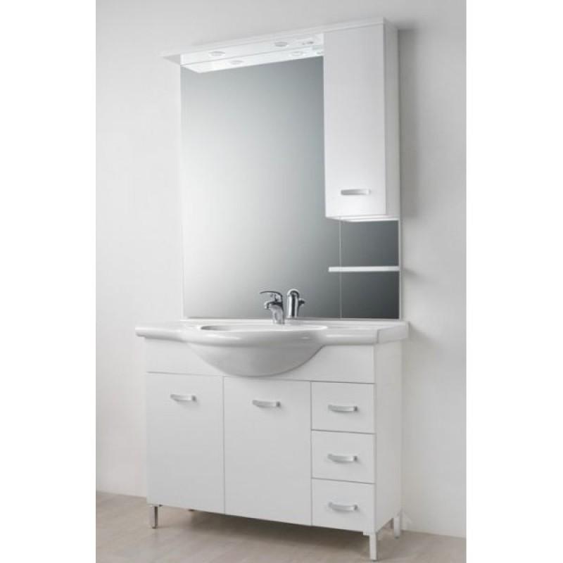 Mobile da bagno bianco da 55 cm for Mobile da bagno