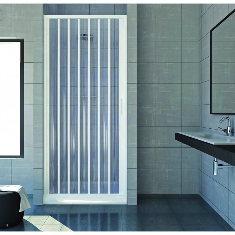 Box doccia a soffietto con apertura frontale a nicchia estendibile da 100 a 120 - Bricoman cabine doccia ...
