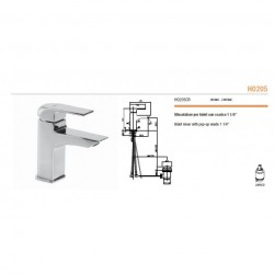 Miscelatore bidet serie HOPE