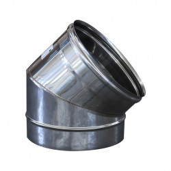 Curva a 45° da 200 - acciaio inox