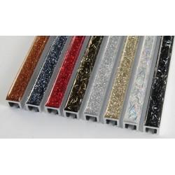 Profili decorativi per mattonelle glitterati - spessore 1 cm