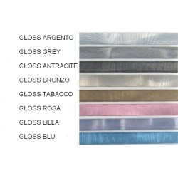 Profili decorativi per mattonelle in alluminio finitura gloss spazzolato - lunghezza 1 mt