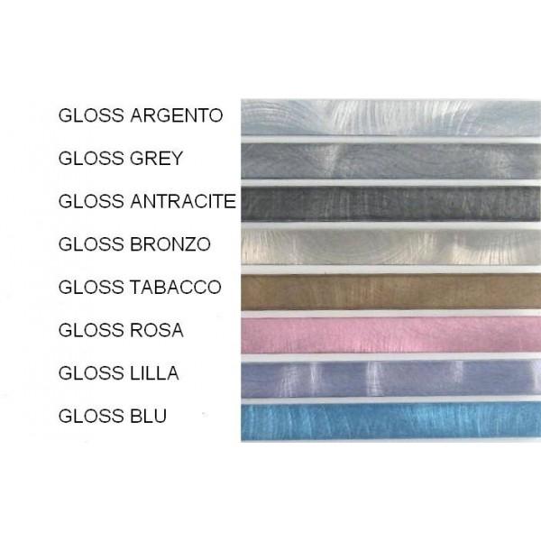 Profili decorativi per mattonelle in alluminio finitura gloss spazzolato - lunghezza 2 mt