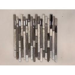 Mosaico su rete Break Beige - 30x30 Cm