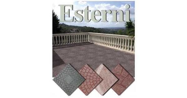 Mattonella per esterno 40x40 in cemento levigate for Piastrelle 40x40 da interno