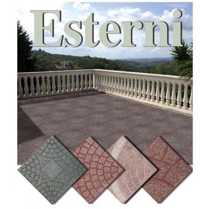 Mattonelle per giardino in cemento stunning mattonelle for Porfido prezzi bricoman