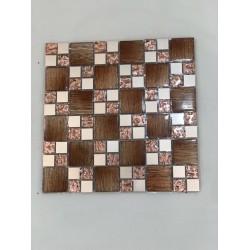 Mosaico su rete Texture Ambra 30x30