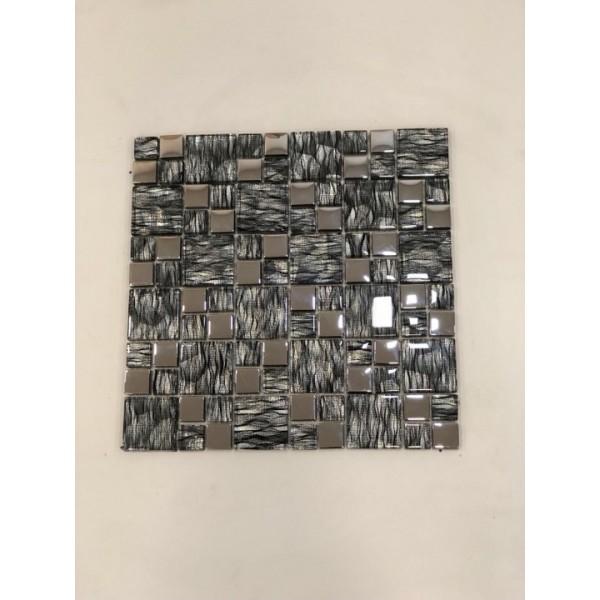 Mosaico su rete  Fumo - 30x30 Cm