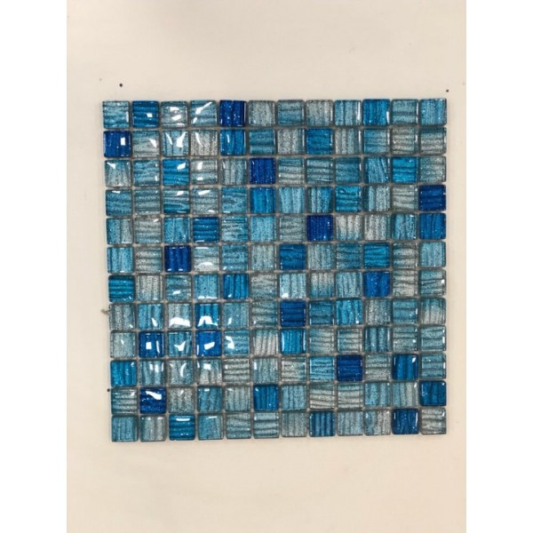 Mosaico su rete STIRPE BLU 30x30 Cm