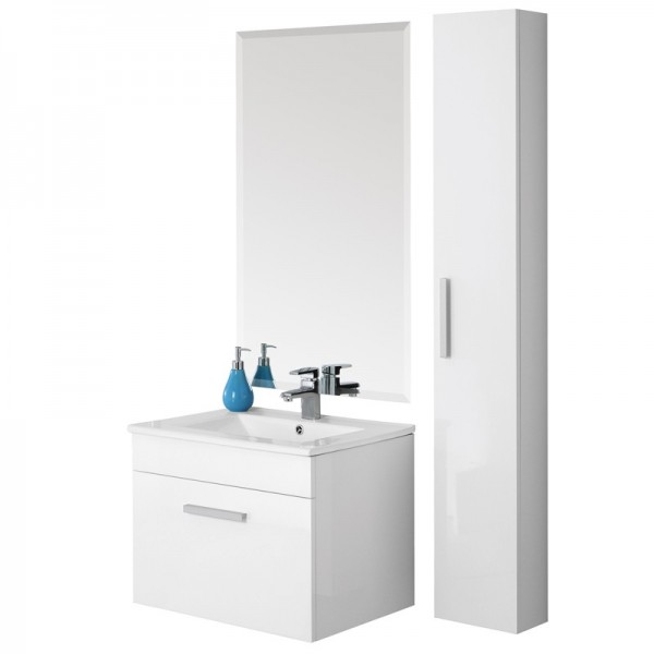Mobile da bagno SHOW 60 Bianco lucido