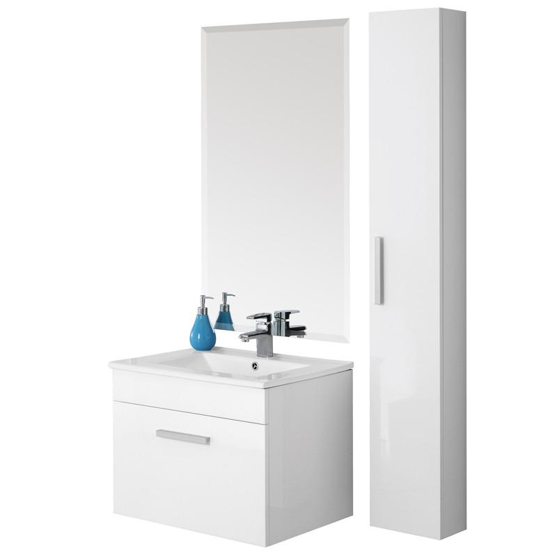 Mobile da bagno show 60 bianco lucido for Mobile bagno 60