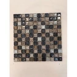 Mosaico su rete STIRPE NERO - 30x30 Cm