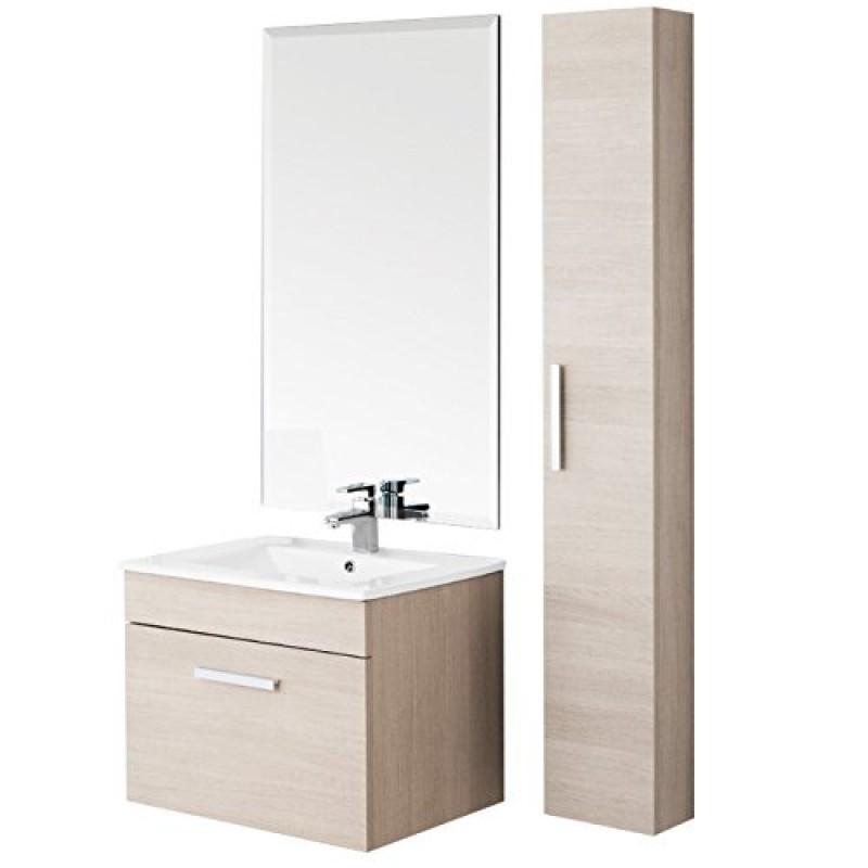 Mobile da bagno show 60 rovere chiaro - Mobile bagno rovere sbiancato ...