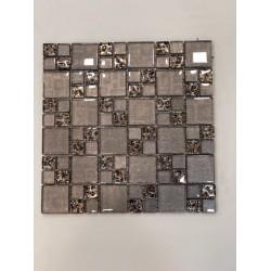 Mosaico su rete Visual Tortora - 30x30 Cm